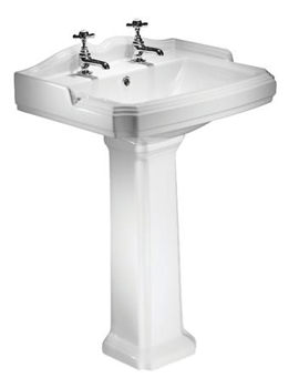 Salisbury 600mm 2 Taphole Ceramic Basin