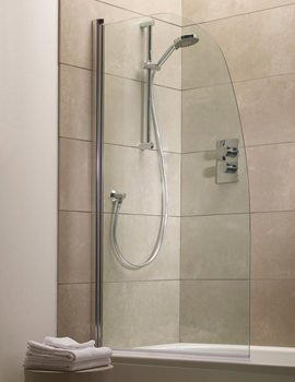 Oxygen Curved Bath Screen 800 x 1500mm - SE1BSR