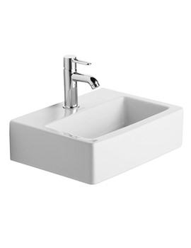 Vero White 450mm 1 Tap Hole Handrinse Washbasin Med - 0704450041