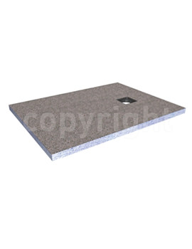Rectangular Wetroom Tray With Centre End Waste 1600mm