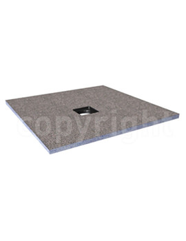 Wetroom Level Access Shower Tray 1200x900mm Centre Waste
