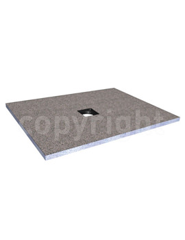Rectangular Wetroom Tray With Centre Waste 1600mm