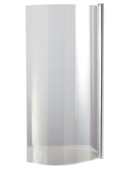 Heritage Unity Curved Bath Screen Right Hand - SBCPR01