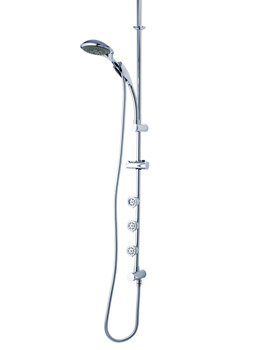 Bellona Ceiling Fed Shower Pole With Body Jets - KITSATBEL