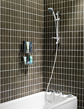 Uni chrome Aire Bath Shower Mixer With Riser Rail