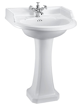 Round Classic 1 TH Basin 650 x 575mm And Pedestal - B17 - P6