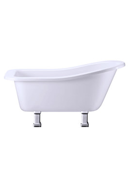 Burlington Buckingham Slipper Bath With Period Legs Chrome - E6 - E9 CHR