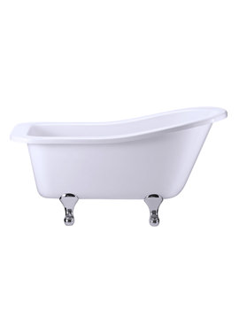 Buckingham Slipper Bath With Chrome Classical Legs - E6 - E10 CHR