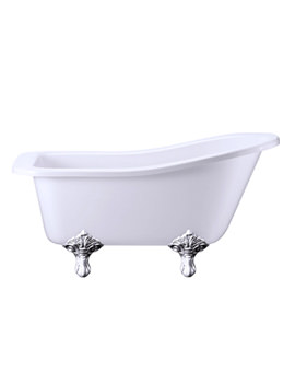 Slipper Bath With Chrome Traditional Legs - E6 - E11 CHR