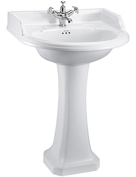 Related Burlington Round Classic 1 TH 65cm Basin With Regal Pedestal - B17 - P7