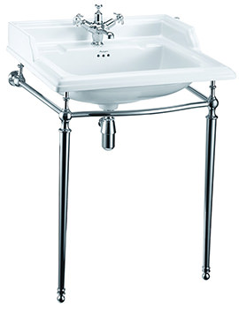 Classic 650mm Basin With Chrome Wash Stand