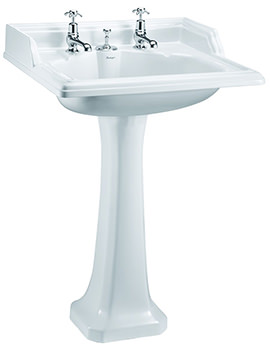 Related Burlington Basin For Invisible Overflow And Waste With Regal Pedestal