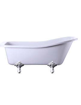 Harewood 1700mm Slipper Bath With Chrome Traditional Legs