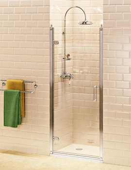 Burlington Hinged 900mm Shower Door - BU3