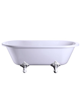 Windsor Double Ended Bath With Chrome Traditional Legs - E3 - E11 CHR