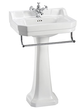 Related Burlington Edwardian Medium Basin With Regal Pedestal And Towel Rail