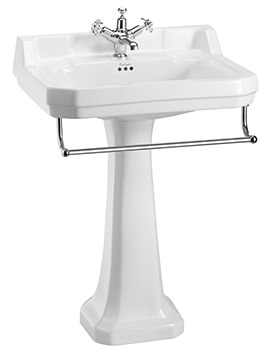 Edwardian Large Basin With Regal Pedestal And Towel Rail