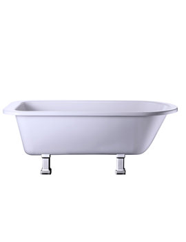 Single Ended Bath With Chrome Period Legs - E2 - E9 CHR