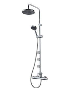 Nene Bar Diverter Shower With Body Jets - UNNETHBMDIV