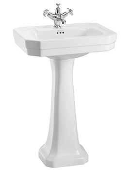 Victorian Medium Basin With Regal Pedestal - B2 1TH - P9