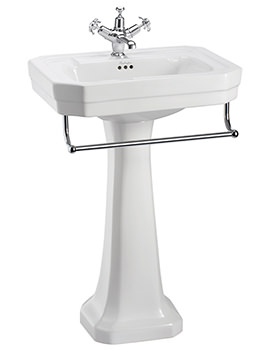 Victorian Medium Basin With Regal Pedestal And Towel Rail