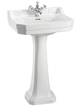 Edwardian 560mm Medium Basin And Full Pedestal B41TH - P1