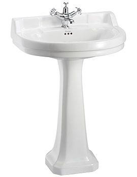 Burlington Edwardian 620mm Round Basin And Full Pedestal - B7 1TH - P1
