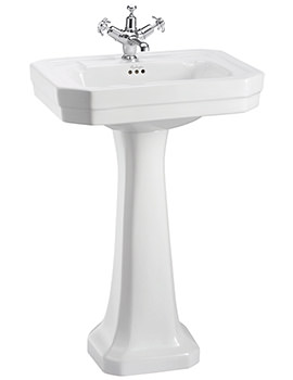 Victorian 560mm Medium Basin And Full Pedestal - B2 1TH - P1