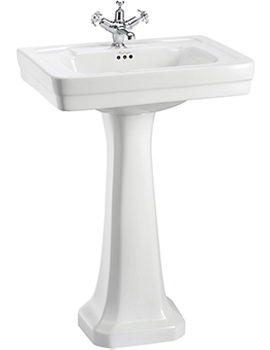 Contemporary 580mm Medium Basin And Pedestal - B1 1TH - P1
