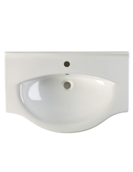 Eden 750mm Ceramic Basin - EDBT750W
