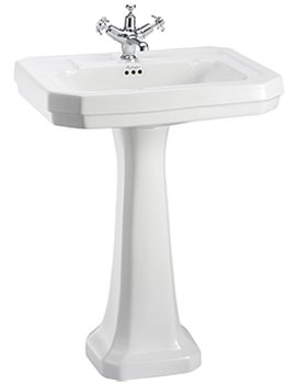 Related Burlington Victorian 610mm Large Basin And Full Pedestal - B3 1TH - P1