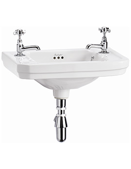 Victorian 510mm Wall Mounted Cloakroom Basin - B9