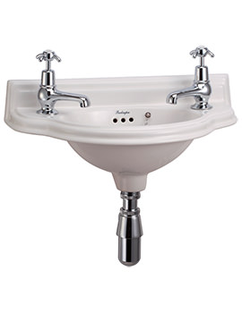 Burlington Wall Mounted Curved Cloakroom Basin - P13