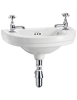 Related Burlington Edwardian Round 510mm Wall Mounted Cloakroom Basin - B11