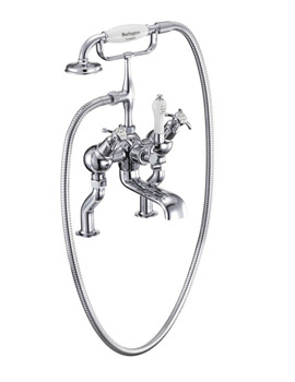 Burlington Anglesey Deck Mounted Angled Bath Shower Mixer Tap - AN19