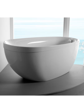 Carron Paradigm Oval Freestanding Carronite Bath 1550 x 850mm