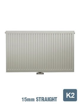 Related Radical K2 Double Convector 600 Wide x 600 High Radiator 15mm Straight