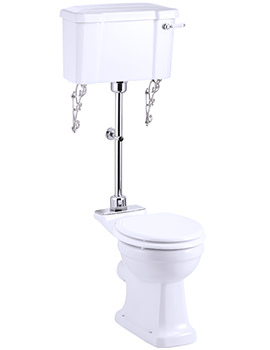 Medium Level WC With White Ceramic Lever