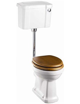 Slimline Low Level WC With Front Button Cistern - P2 - C4