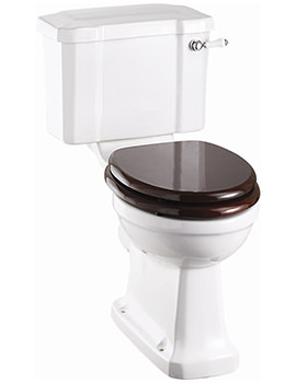 Burlington Slimline Closed Coupled WC With Cistern And Ceramic Lever