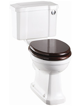Slimline Closed Coupled WC With Front Button Cistern 730mm