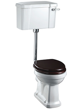 Burlington Low Level WC With Ceramic Cistern Lever - P2 - C1 - T31 CHR