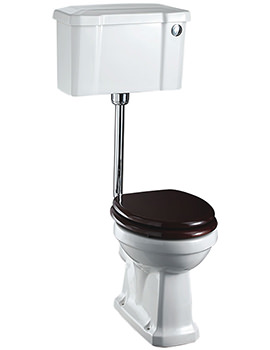 Low Level WC With Front Button Cistern - P2 - C2 - T31 CHR