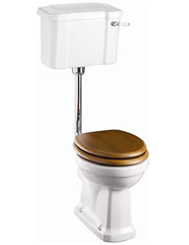 Slimline Low Level WC With Ceramic Cistern Lever - P2 - C3