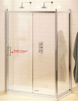 Burlington Soft Close Slider Door 1200mm And 800mm Side Panel - BU80