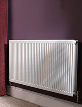 Round Top Double Panel Plus Radiator 1800 x 400mm - Q21418RT