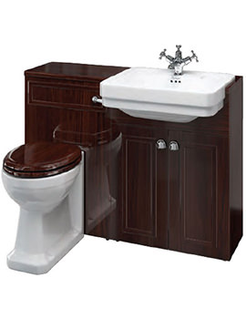 Burlington Back To Wall Mahogany Vanity Unit Suite