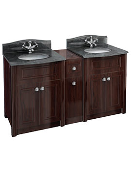 Burlington Two Mahogany Vanity Unit And Joining Unit With Granite Top