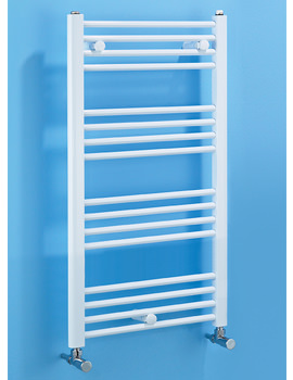 Dolomite White Straight Heated Towel Rail 600 x 800mm