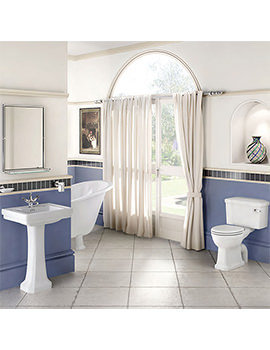 Burlington Bathroom Suite With Contemporary Basin